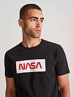 Черная футболка в стиле nasa | логотип наса