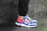 Мужские кроссовки синие с красным Nike Undercover X Nike React Element 87 7910, фото 1