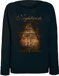 Женский свитшот Nightwish - Human. :II: Nature. (чёрный)