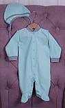 Демісезонний набір одягу для новонароджених Міні м'ятний, фото 3
