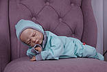 Демісезонний набір одягу для новонароджених Міні м'ятний, фото 2