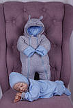 Демісезонний набір одягу для новонароджених Міні блакитний, фото 2