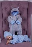 Демисезонный набор одежды для новорожденных Мини голубой, фото 2