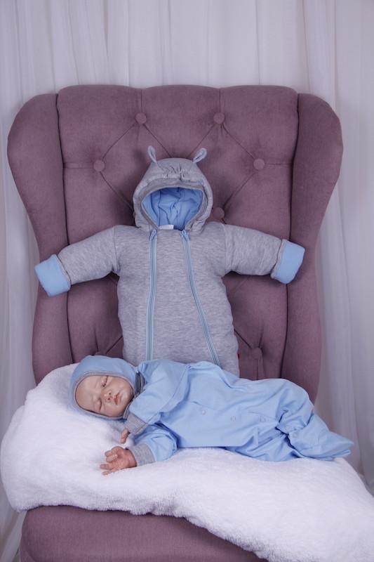 Демисезонный набор одежды для новорожденных Мини голубой