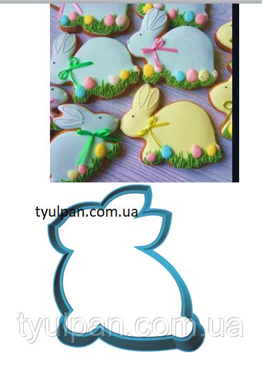 Вырубка кондитерская для пряника  кролик  зайка (0040) 8*8 см