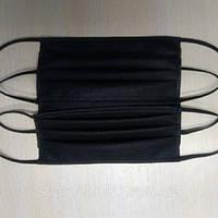 Черная защитная медицинская маска! Защитная респиратор маска против вируса черного цвета на резинках! Удобная!