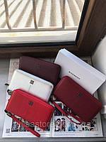 Женский кожаный кошелек-клатч на молнии Givenchy Дживанши реплика