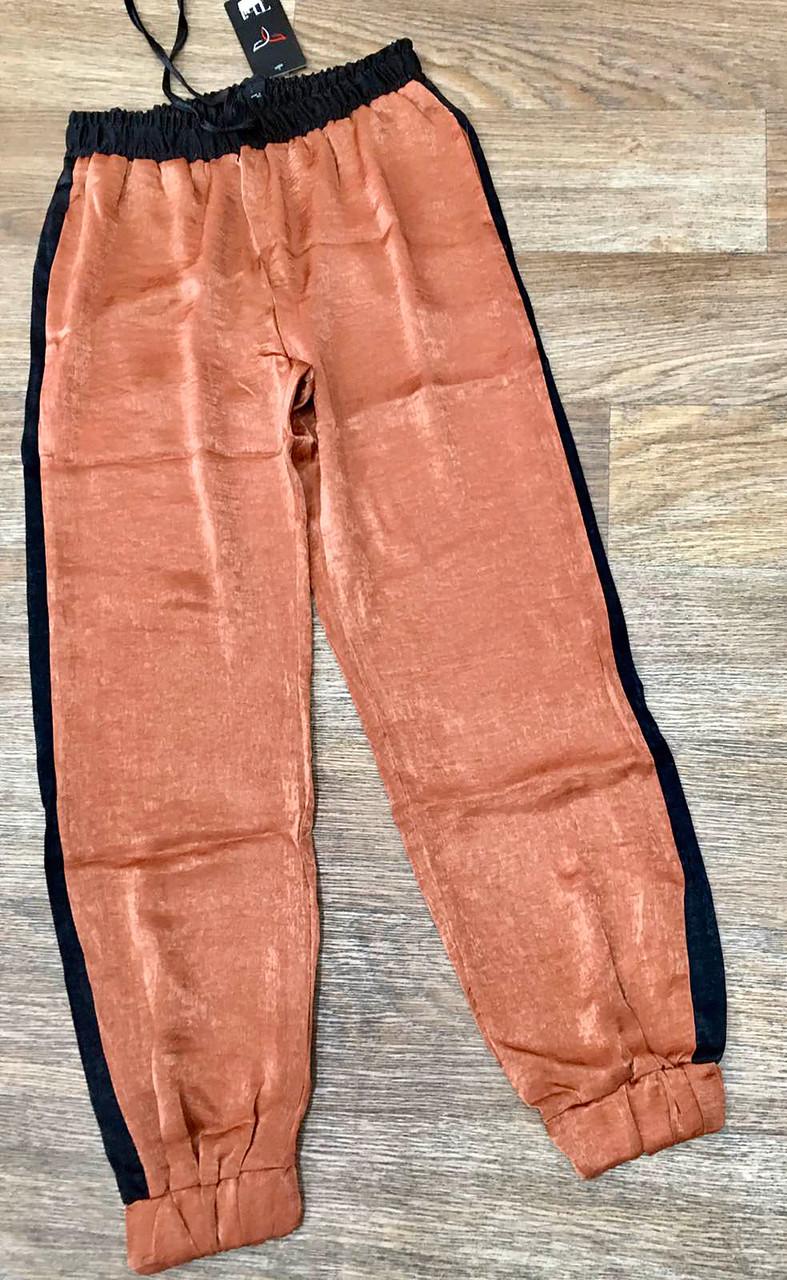 Блестящие спортивные женские штаны 42-48 (в расцветках)