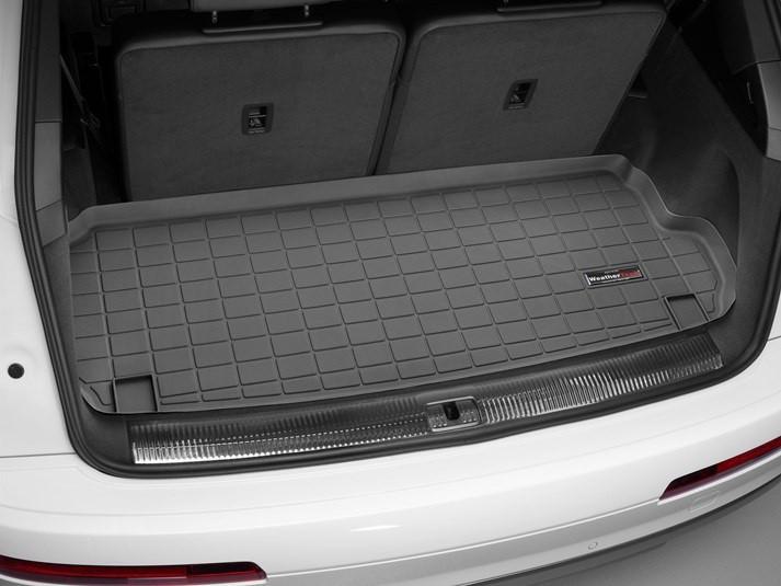 Ковер резиновый WeatherTech Audi Q7 16+ в багажник (за 3-й ряд) черный 7-ми местная