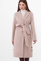 Женское стильное приталенное пальто до колен ПМ-104-D