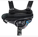 Кобура оперативная из плотной кожи для пистолета ПМ, МР654к, Umarex Makarov можно носить на ремне, фото 2