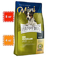 Сухой корм Happy Dog Mini Neuseeland для собак малых собак | корм для миниатюрных собак | 8 кг | 4 кг