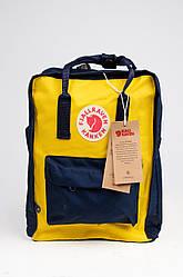 Яркий рюкзак Fjallraven Kanken Classic 16 л, желто-черный