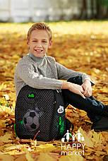 Набор школьный ранец ортопедический каркасный для мальчика Футбол DeLune 7mini-007, фото 2