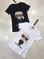 Трикотажная женская летняя турецкая  футболка с рисунком, FN - 1085