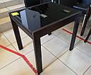 Стол обеденный Слайдер  Белый со стеклом Черный, 100(+100)*82см, фото 4