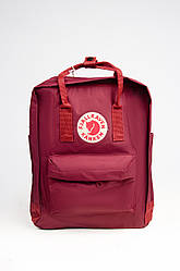Яркий рюкзак Fjallraven Kanken Classic 16 л, бордовый