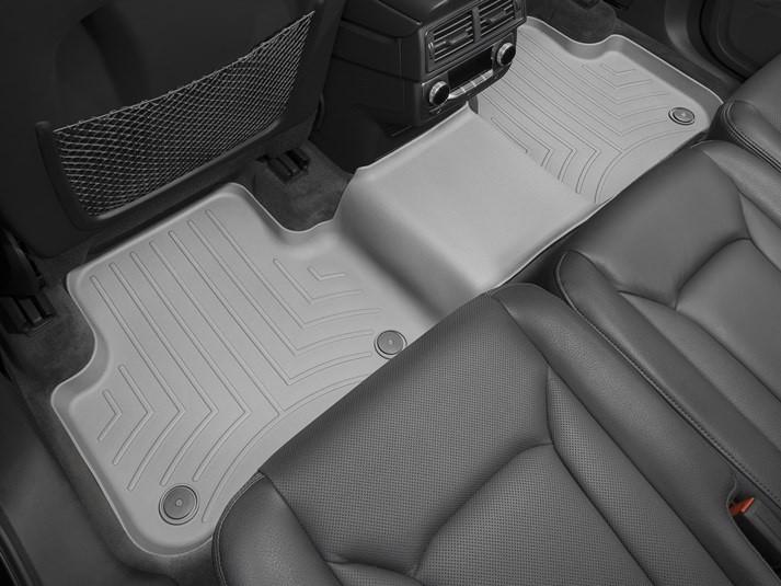 Ковры резиновые WeatherTech Audi Q7 16+ задние серые