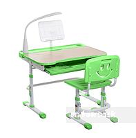 Комплект растущая парта 80х58 см и стул-трансформеры для ребенка 3 - 10 лет ТМ FunDesk Bellissima green