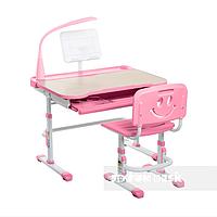 Комплект растущая парта 80х58 см и стул-трансформеры для девочки 3 - 10 лет ТМ FunDesk розовый Bellissima pink