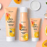Набор для лица с органическим абрикосом и апельсином Love Nature от Орифлейм