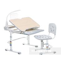 Комплект растущая парта 80х58 см и стул-трансформеры для ребенка 3 - 10 лет ТМ FunDesk Bellissima grey