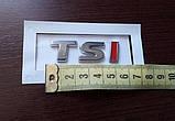 Шильдик надпись TSI хром+красный на крышку багажника, фото 2