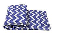 Детское одеяло Vladi Зигзаг 100х140 см. (48627) Голубой