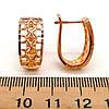 Серьги Xuping из медицинского золота, в позолоте 18K, размер 18х14 мм,  ХР00156 (1), фото 2
