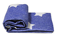 Детское одеяло-плед Vladi Звезды 100х140 см.Голубое (2200000548634)