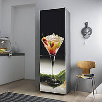 """Виниловая наклейка на холодильник.""""Коктейль"""", фото 1"""