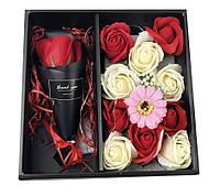 Подарочный набор мыла из роз С РОЗОЙ XY19-80   Мыло натуральное в подарочном наборе