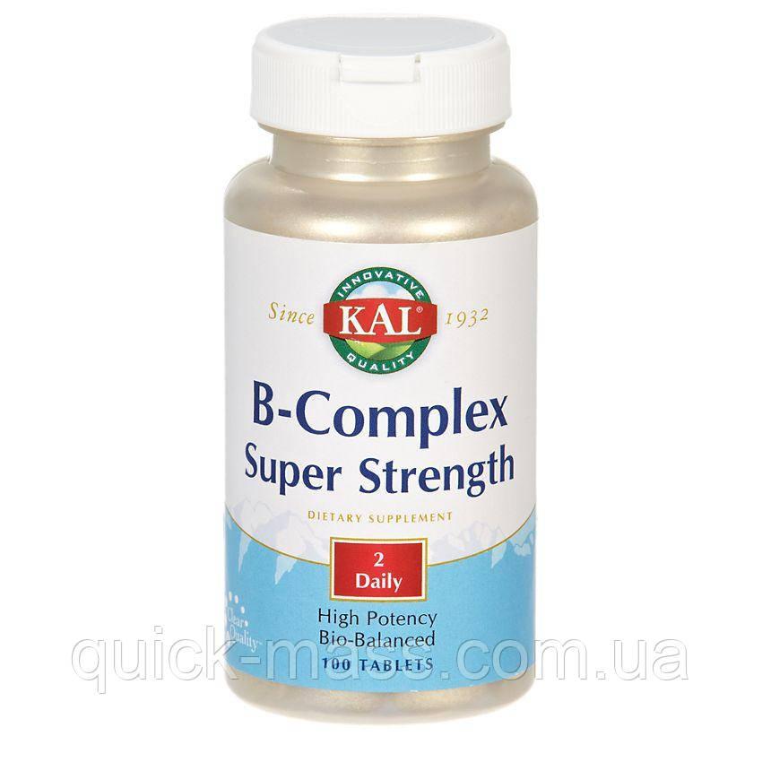 Вітаміни B-Complex KAL Super Strength 100 Tablets