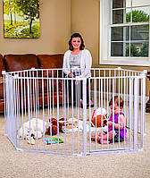 Манеж детский . манеж металлический . Большой детский манеж 8 секции 72 см высотой, детские ограждения