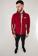 Спортивный костюм мужской весенний бордовый в стиле Under Armour. Кофта + штаны. Спортивний костюм чоловічий