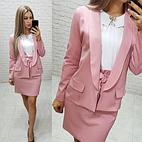Стильный пиджак женский удлиненный, розового цвета, арт 189