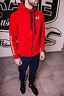 Спортивный костюм мужской весенний красный в стиле Under Armour. Кофта + штаны. Спортивний костюм чоловічий