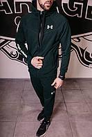 Спортивный костюм мужской весенний зеленый в стиле Under Armour. Кофта + штаны. Спортивний костюм чоловічий