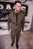 Спортивный костюм мужской весенний хаки в стиле Under Armour. Кофта + штаны. Спортивний костюм чоловічий