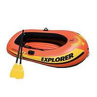 Двухместная надувная лодка до 95 кг + весла и ручной насос