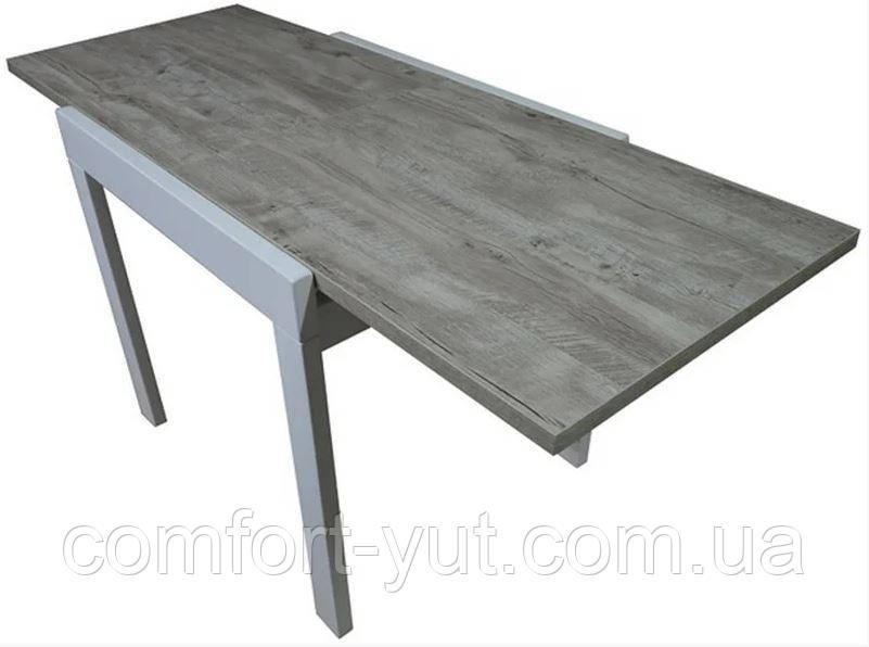 Стол обеденный Слайдер Белый/ КЛОНДАЙК,100(+100)*82см