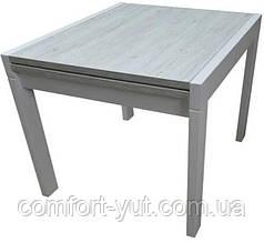 Стол обеденный Слайдер Белый/ АЛЯСКА,100(+100)*82см