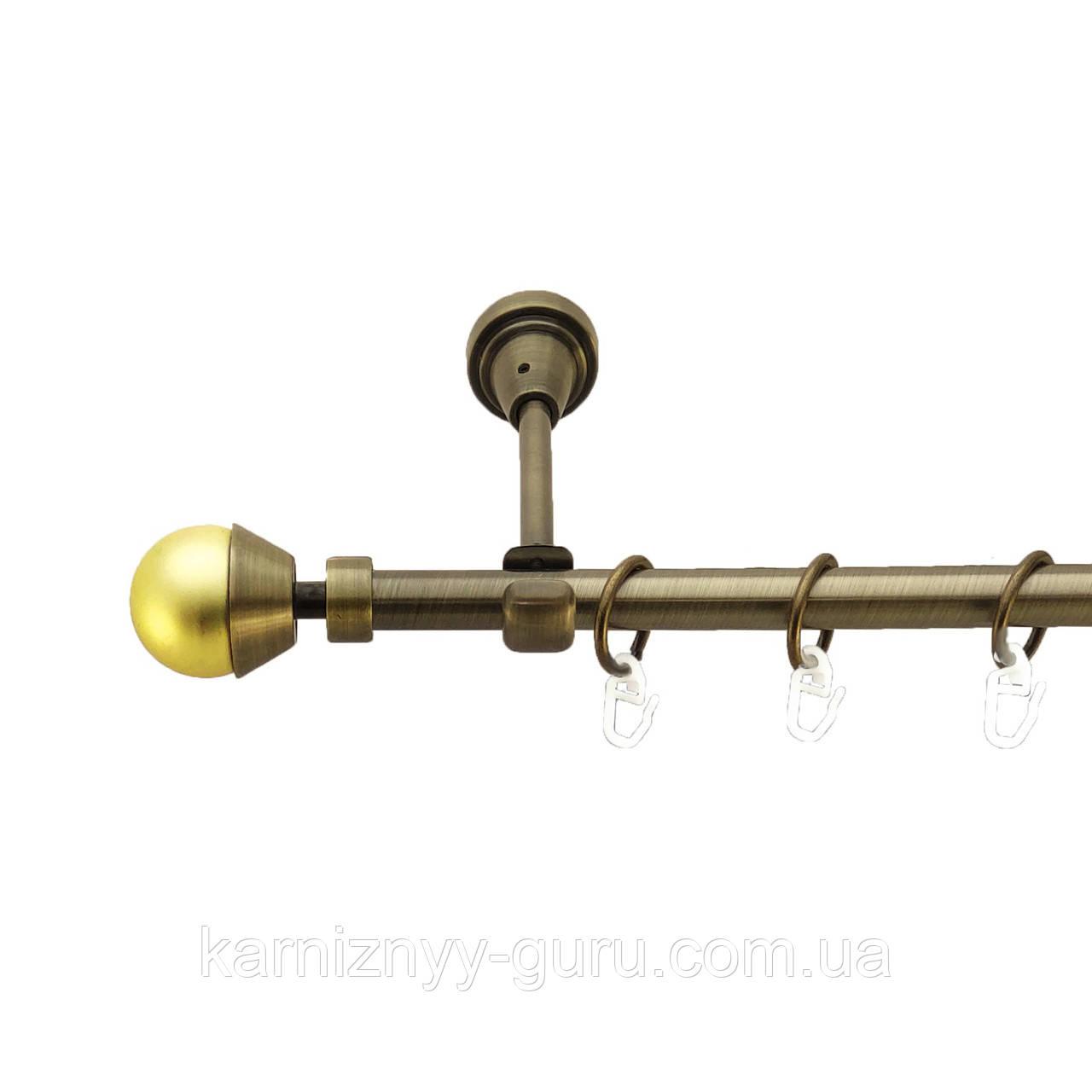Карниз для штор ø 16 мм, одинарный, наконечник Мельба