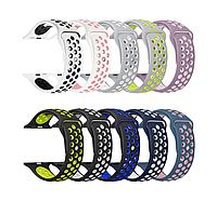 Силиконовые ремешки для умных смарт-часов Apple Watch Nike Sport Band 38-40mm, 42/44 mm