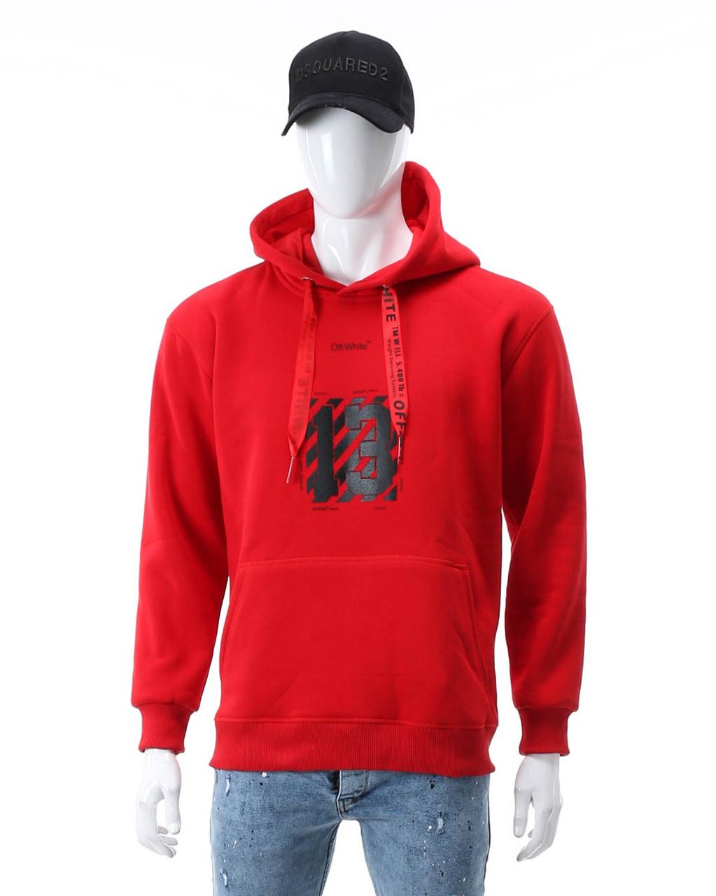 Худи осень-зима красный OFF-WHITE №13 Т-2 RED XL(Р) 19-581-203