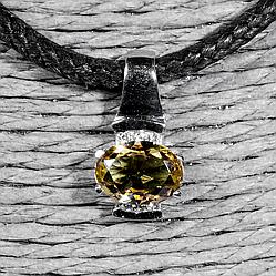 Серебряный кулон с султанитом диаспор, 677ПС