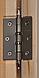 Универсальная стеклянная дверь липа Tesli UNO Delta 1900х700 мм бронзовая матовая для бани и сауны, фото 4