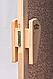 Универсальная стеклянная дверь липа Tesli UNO Delta 1900х700 мм бронзовая матовая для бани и сауны, фото 5