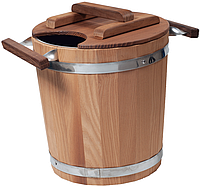 Запарник Tesli з нержавіючої вставкою 20 літрів термированная липа для лазні та сауни