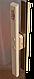 Универсальная стеклянная дверь липа Tesli Siesta 1900х700 мм бронзовая прозрачная для бани и сауны, фото 4